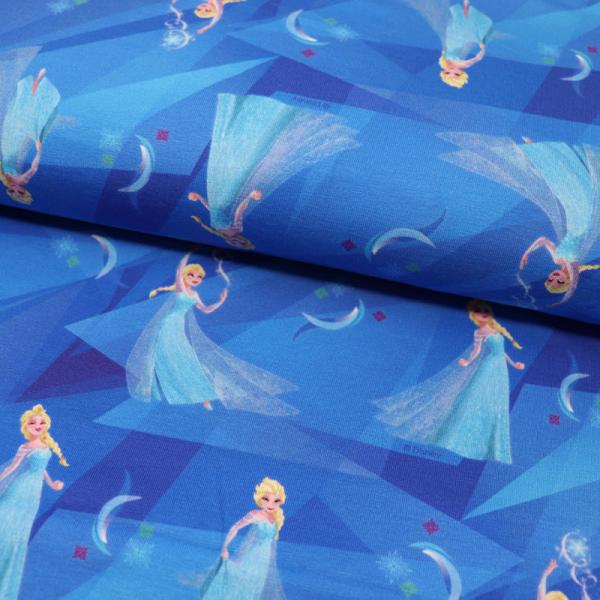 Lizenz Jersey ~ Frozen Anna & Elsa Blau