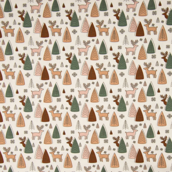 Jersey ~ Hirsche im Wald auf Weiß