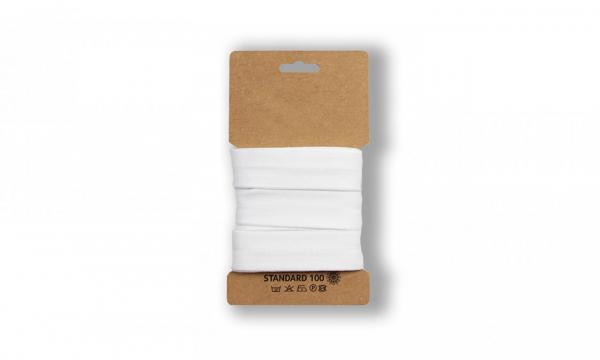 3 Meter Jersey Schrägband Weiß 20mm