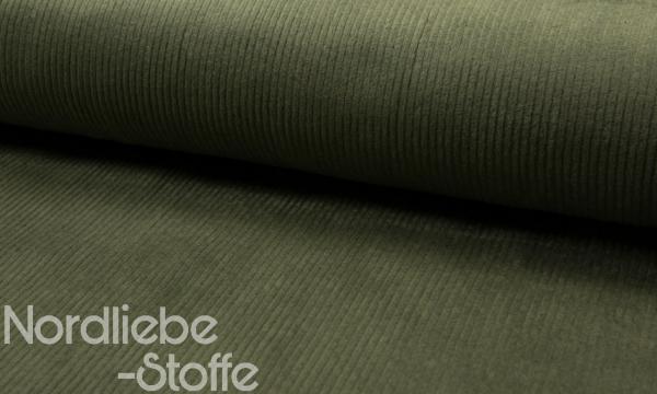 dehnbarer Breitcord ~ Khaki 0,77 m LETZTES Stück