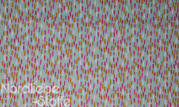 Baumwolle ~ Konfetti Striche auf mint