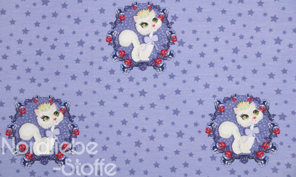 Jersey ~ Katze Fliederblau