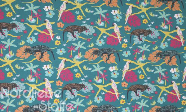 GOTS Organic Baumwolle ~ Dschungel Geparden