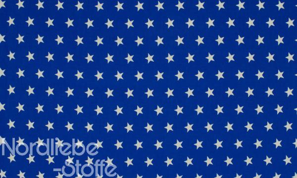 Baumwolle ~ Sterne auf Royalblau