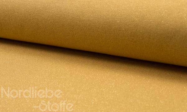 Glitzer Bündchen ~ Ocker Lurex Gold