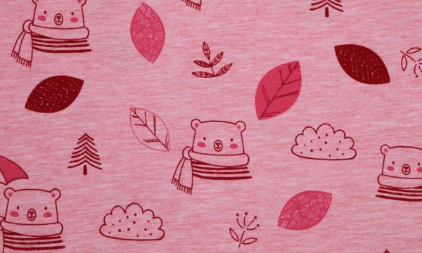 Soft Jersey ~ Teddy Blätter & Wolken
