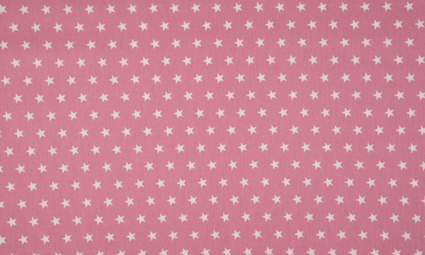 Baumwolle ~ Sterne auf Altrosa