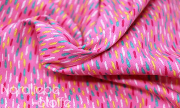 Baumwolle ~ Konfetti Striche auf pink