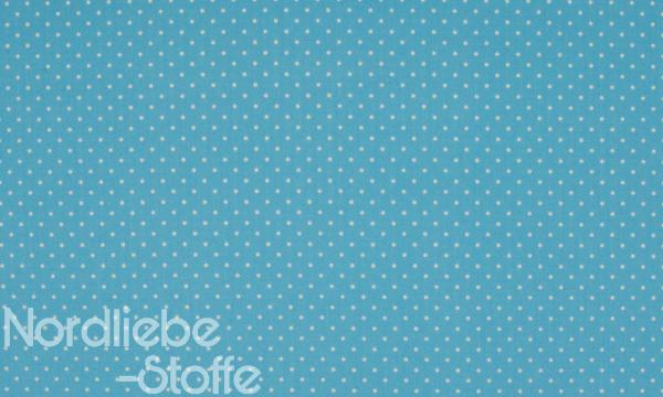 Baumwolle ~ kleine weiße Punkte auf Hellblau