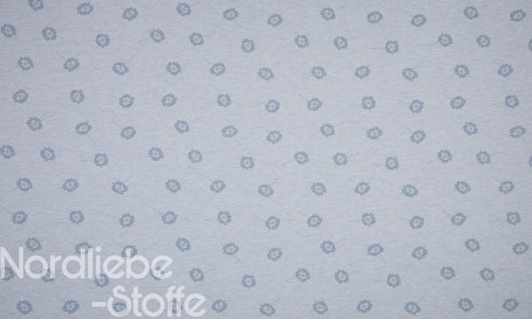 ORGANIC Jersey ~ kleine Pusteblumen Blau Melange