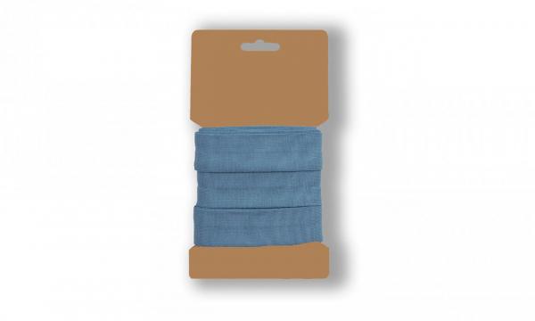 3 Meter Jersey Schrägband Jeansblau 20mm