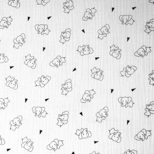 Musselin ~ TRIPLE Elefant Weiß