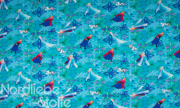 Lizenz Walt Disney French Terry ~ Frozen Anna & Elsa