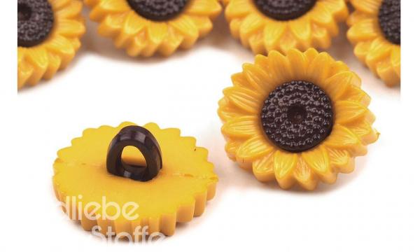 Knopf ~ Sonnenblume