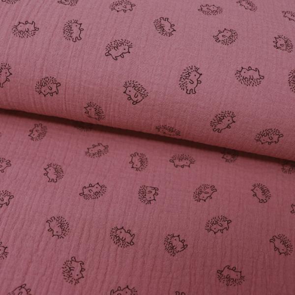 Musselin ~ Igel Old Pink