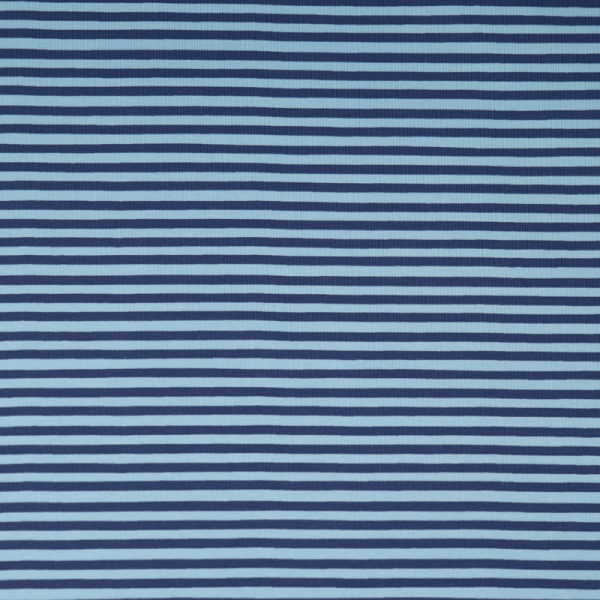 Jersey ~ schmale Streifen Hellblau Dunkelblau