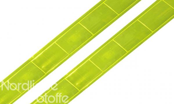 Reflektor- / Reflexband NEON gelb 25mm