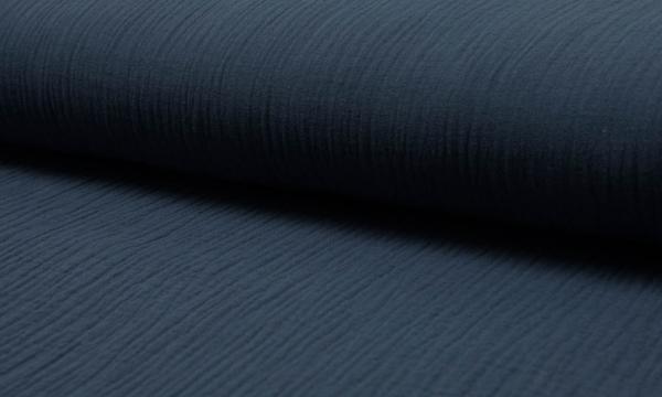 Musselin ~ Double UNI Jeansblau