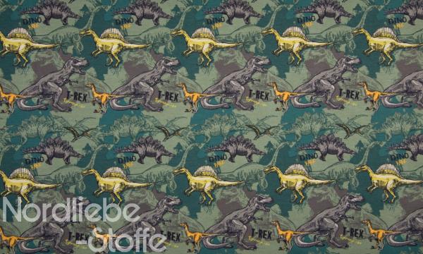 Jersey ~ Dinos Grün 0,5 m LETZTES Stück