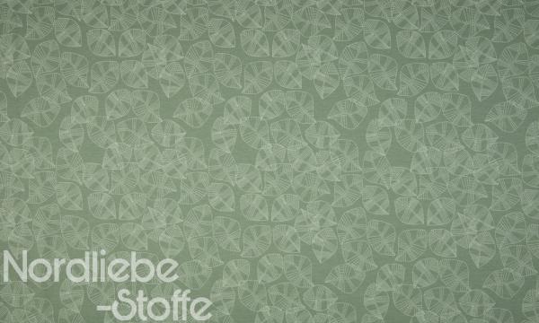Jersey ~ Blätter auf Grün 0,75 m LETZTES Stück
