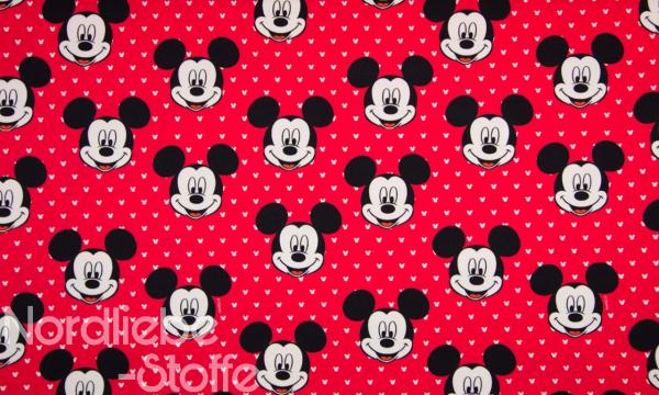 Lizenz Walt Disney French Terry ~ Mickey Mouse rot 0,75 m LETZTES Stück