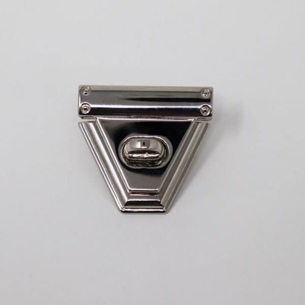 Taschenverschluss Metall Silber