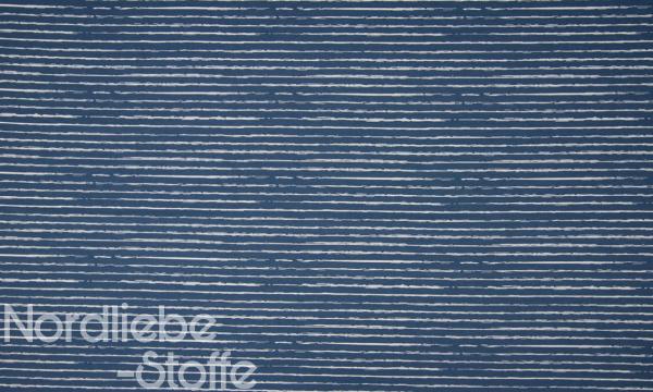 Baumwolle ~ Streifen Jeansblau