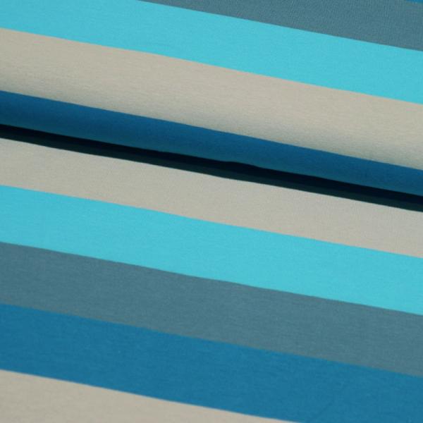 Jersey ~ breite Blockstreifen Blau