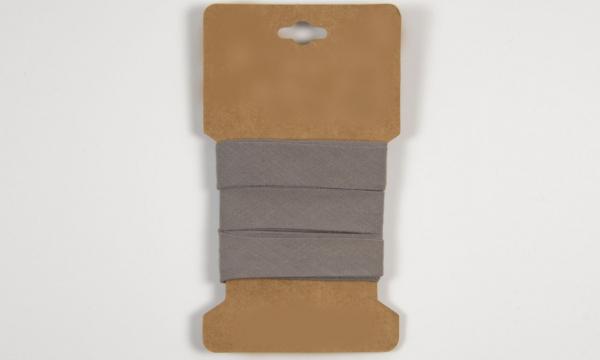 3 m Baumwoll Schrägband Grau 20mm