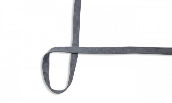 Flache Kordel - 15 mm UNI Dunkel Grau