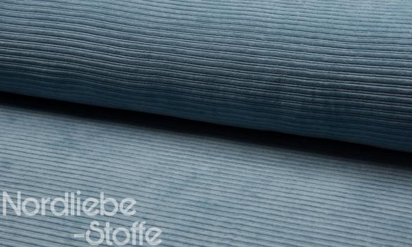 Cord Jersey ~ Jeansblau