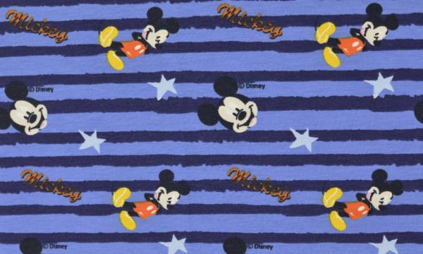 Lizenz Jersey ~ Mickey Maus Blau Streifen