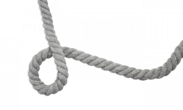 Gedrehte Kordel - Ø 10 mm UNI Silber Grau