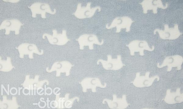 Kuschelfleece ~ Elefanten auf Blau
