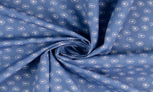 Baumwolle ~ Pusteblumen Blau Weiß