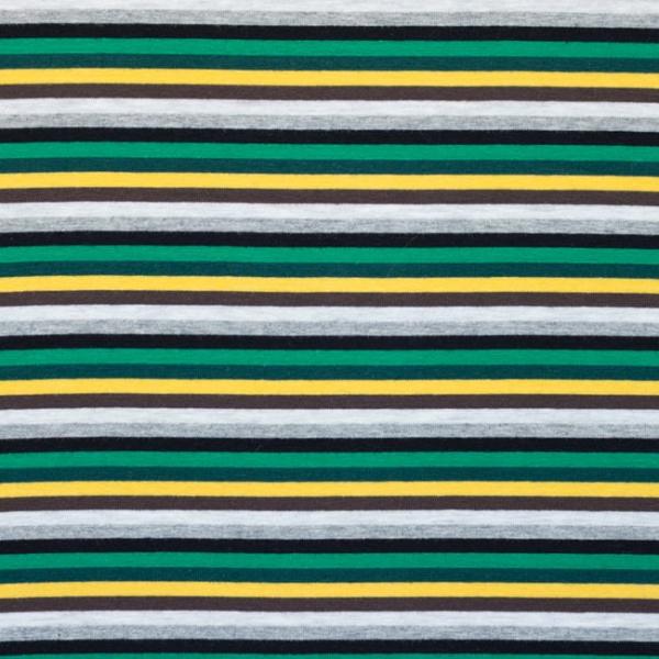 Jersey ~ schmale Streifen Grün Grau