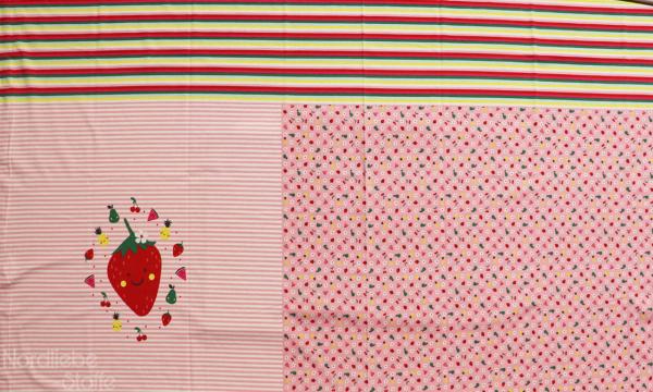 Jersey Panel ~ Erdbeere Rosa (17)