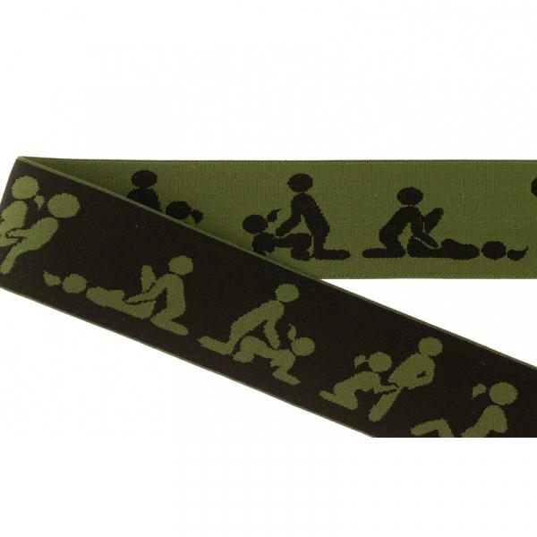 Kamasutra Gummiband elastisch 40 mm ~ Army