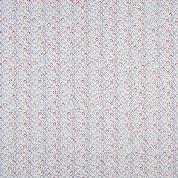 Baumwolle ~ Wellen Weiß