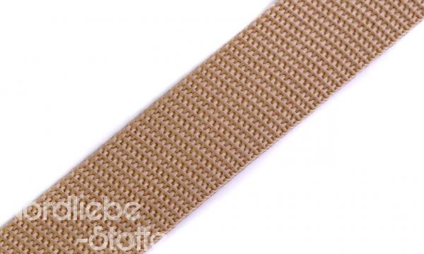 PP Gurtband 25mm BraunBeige