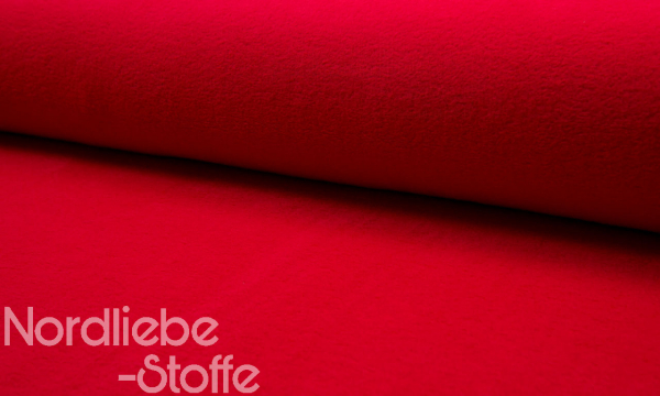 Baumwoll Fleece ~ Rot