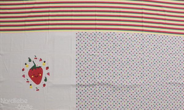 Jersey Panel ~ Erdbeere Hellblau (10)