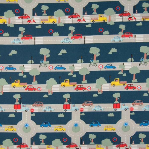 Baumwolle ~ Verkehr Blau