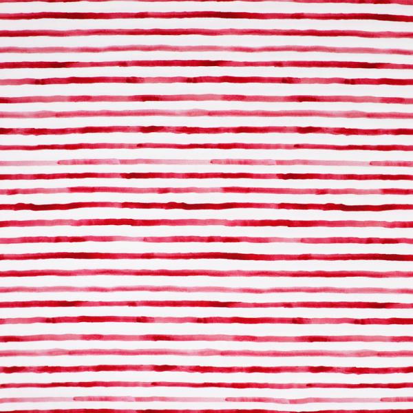 SWAFING Ozean Breeze Jersey ~ Aquarell Streifen Rot auf Weiß 0,56 m LETZTES Stück