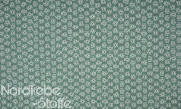 Baumwolle ~ Blumen GREEN