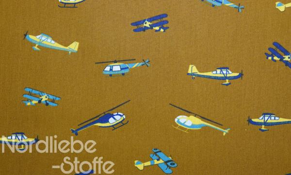 Baumwolle ~ Flugzeuge dunkelocker