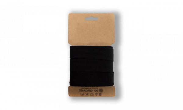 3 Meter Jersey Schrägband Schwarz 20mm