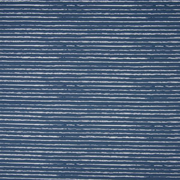 Jersey ~ Streifen Blau Weiß