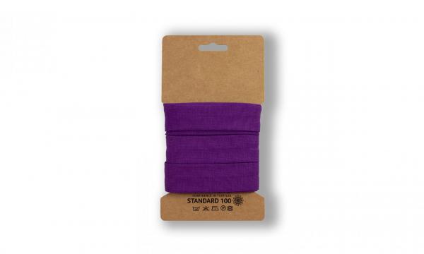3 Meter Jersey Schrägband DARK Purple 20mm