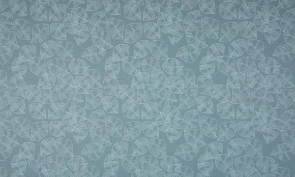 Jersey ~ Blätter auf Blau